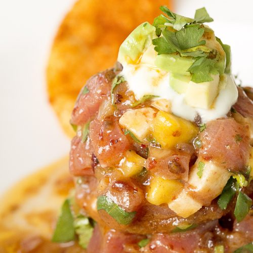 Tuna Ceviche with Chipotle-Shallot Marinade